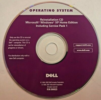 Dell Microsoft Windows XP Reinstallation CD Service Pack 1 Home Edition