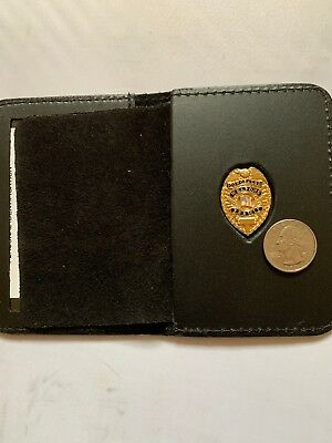 Concealed Weapons Carry Permit GOLD Mini Badge Wallet And ID Holder