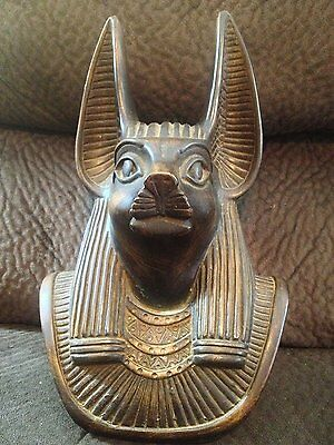 Amazing Antique Statue of Ancient Egyptian God ANUBIS Mummification Collection.