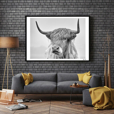 Cow Portrait Poster Print Wall Art Painting Pictures Living Room Home Decor tall