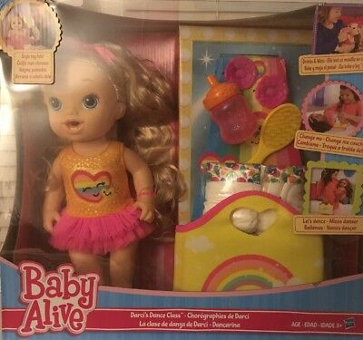 Baby Alive Darci's Dance Class Blonde Hair Doll by Hasbro