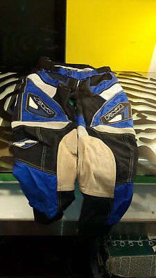 FXR Motorcycle Pants Motocross Padded Mens Size 32 decent shape Blue