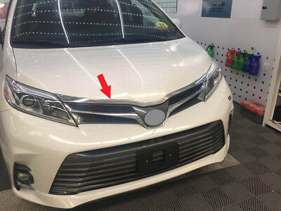 fits 2018 2019 Toyota Sienna MPV ABS Chrome Front Engine Hood Cover Trim Garnish