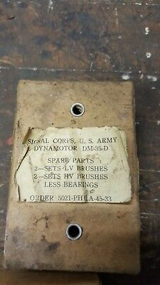US Army Signal Corps Box Dynamotor Replacement Brushes - Military - WW2 - DM35D