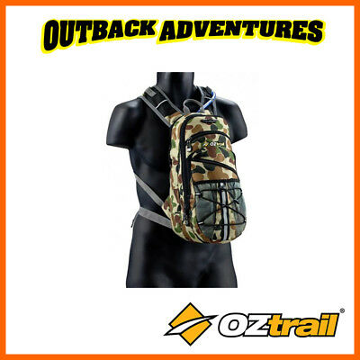 Oztrail Blue Tongue Tactix 2 Litre Hydration Hiking Back Pack Bladder New 2L