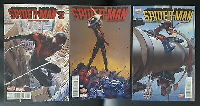 Spider-Man (2016) #1 - 3 Miles Morales Lot of 3 Marvel Comic books VF/NM Low $