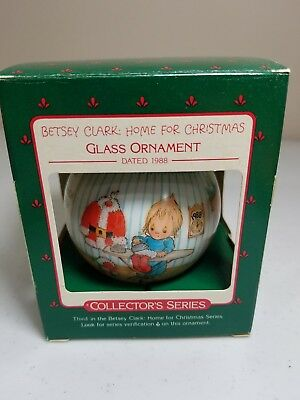 Betsey Clark Glass Keepsake Ornament Home for Christmas Vintage 1988 Hallmark