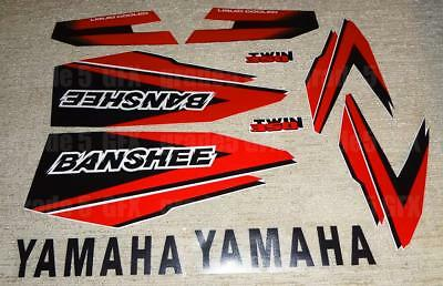 98' 1998 Yamaha Banshee Red/Black Decals Stickers Quad Graphics 10pc kit