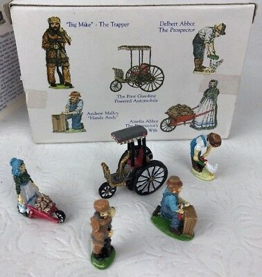 Liberty Falls Hand Painted Pewter Coll Gas Powered Auto 5 Pewter Figures AH136