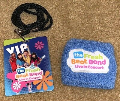 THE FRESH BEAT BAND  VIP LANYARD NECKLACE and WRISTBAND