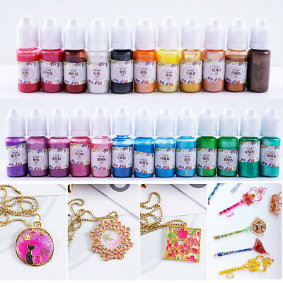 10g/Bottle Pearl Pigment Dye Epoxy UV Resin Handmade DIY Coloring Jewelry Crafts
