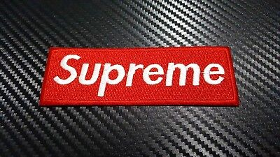 Embroidered Patch Iron Sew Logo SUPREME vans thrasher skateboard SPORTS SKULL N