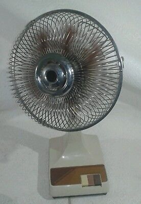 """vintage kuo horng 9"""" oscillating fan model kh-09 1980s"""