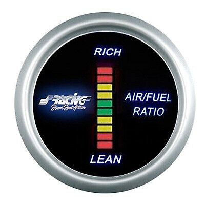 Simoni Racing Performance Digital Air / Fuel Ratio Gauge - 52mm Diameter - Black