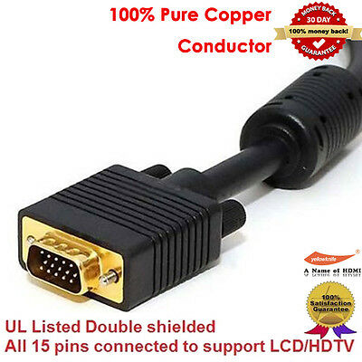 Gold Ultima HD15 Male/Male SVGA Video Cable (6 Feet/1.83 Meter),100% Pure Copper