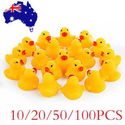 NEW Yellow Rubber Ducks Bathtime Squeaky Bath Toy Water Play Kids Toddler 3-4cm