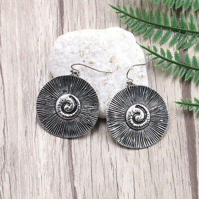 Boho Styles Round Spiral Earrings Dangling for Summer Holiday Favor Gift B