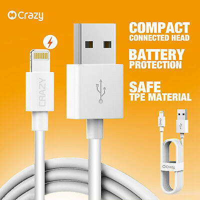 Crazy USB Data Cable Charger Cord for Apple iPhone X Xs Max XR 8 7 6 Plus iPad