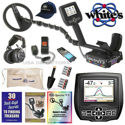Whites SPECTRA V3i HP Metal Detector With Wireless HP and 5 BONUS Item's !