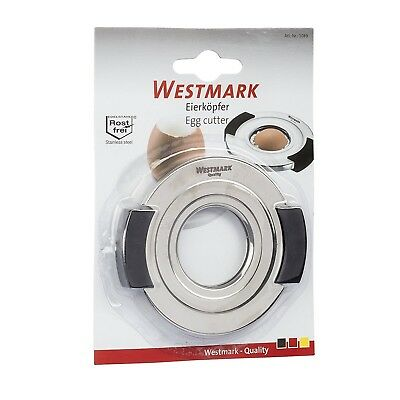 Westmark Egg Cutter, Stainless Steel, Black/Silver, 9.1 x 8.1 x 1.1 cm