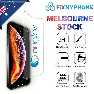 For iPhone XS Genuine NUGLAS Tempered Glass Screen Protector Best Protection