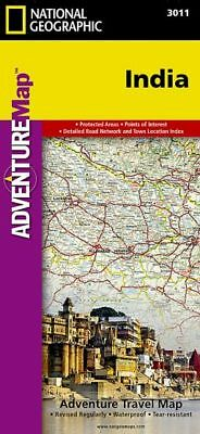 India: Travel Maps International Adventure Map by National Geographic Maps