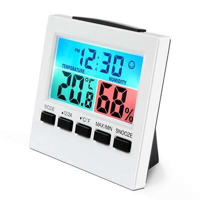 Digital Thermo-Hygrometer Thermometer & Air Humidity Meter with Alarm Clock
