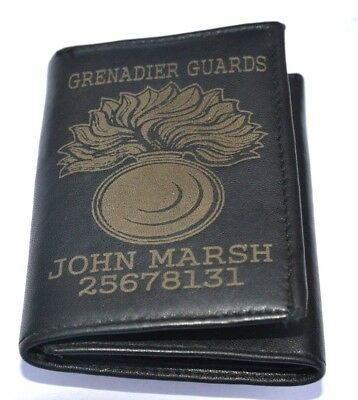 Grenadier Guards British Army Uk Personalised Wallet With Any Name & Number