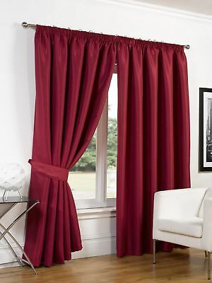 Dreamscene Luxury Ring Top Fully Lined Pair Thermal Blackout Eyelet Curtains ...