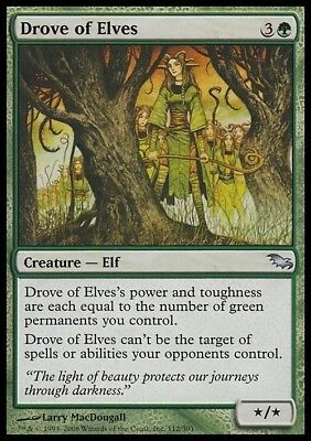 1X Drove of Elves FREE SHIPPING OVER $10 Shadowmoor * English NM