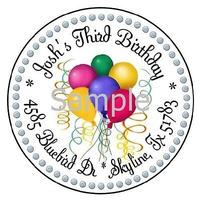 three balloons round return address labels 3 50 picclick
