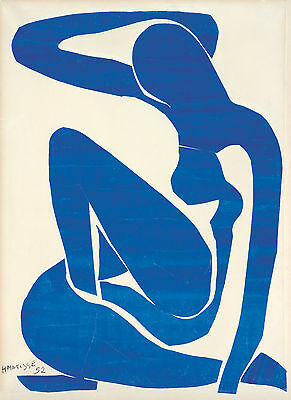 Henri  Matisse Blue Nude Ii Fine Art Canvas A1 Iconic Retro 20 X 30 Wall Modern