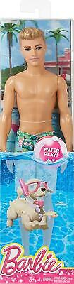 Ken Beach Figure by Mattel Barbie Doll Boyfriend Ken Water Play