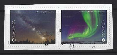 Canada 2018 Royal Astronomical Society Self Adhesive Pair Fine Used