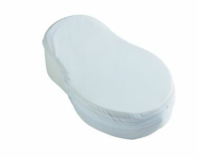 Red Castle Cocoonababy® Towelling Fitted sheet - White