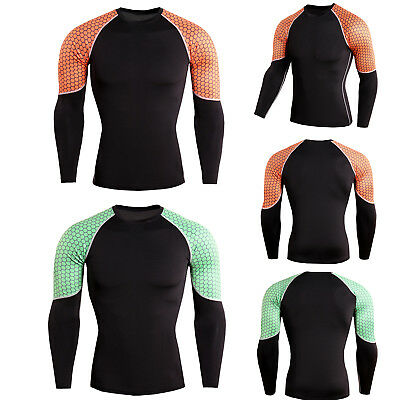 d0f8bc8665 Mens Compression Under Base Layer Skin Sports Gym Workout Fitness T-shirt  Tops