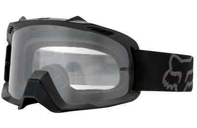 YOUTH FOX AIRSPACE MOTOCROSS MX GOGGLES MATTE BLACK tear-off bike airspc KIDS