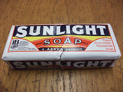 Original vintage Sunlight Soap unopened. 1969s  A Lever Brothers Product
