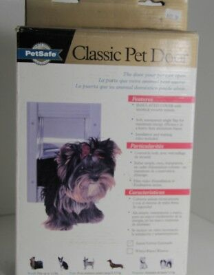 PetSafe CLASSIC  PET DOOR SMALL DOGS UP TO 12 LBS  5 x 7 Metal in Wall satin