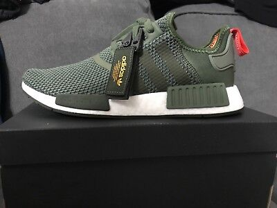 465bffcd3908e Adidas Originals Nmd R1 Boost Bomber Jacket Olive Green Rare Men Sneakers  B37620