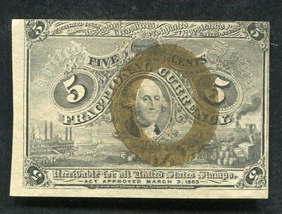 Fr. 1232 5 Five Cents Second Issue Fractional Currency Note Uncirculated (B)