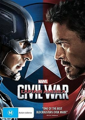 Captain America 3 Civil War DVD Region 4 Marvel DvD
