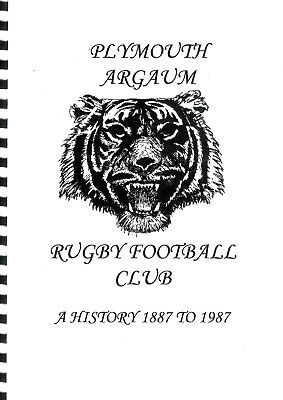 PLYMOUTH ARGAUM RFC - A History 1887 to 1987 by D.I. Dobell RUGBY CLUB BOOKLET