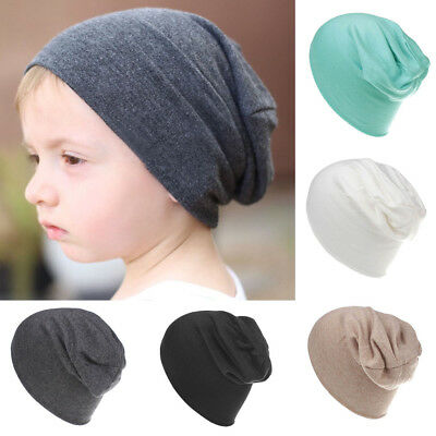 Cute Baby Slouchy Beanie Solid Color Toddler Beanie Winter Reversible Hat Caps
