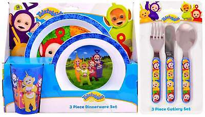 Teletubbies 6-Piece Dinner and Cutlery Set | Plate, Bowl, Cup, Knife, Fork Spoon