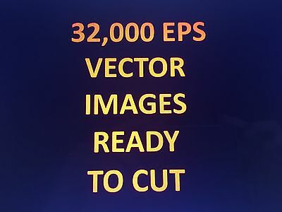 Eps,Vectors,Clipart,Icons,Cutter,Signs & Vinyl Plotter 32,000 seperate images