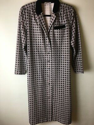 Vintage Button Through  Dress Elasticated At The Back 36 Bust School Mam Style