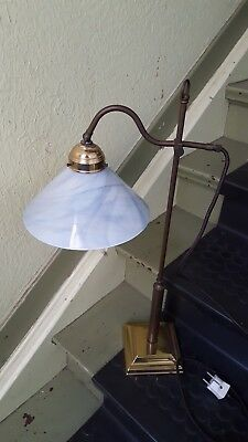 Lamptique Berliner Messing Lampe Tischlampe Winkel verstellbar 66cm Art Deco