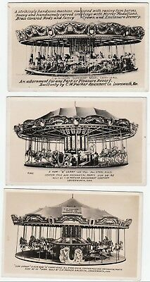 RPPCs CW Parker Amusement Co Advertising Real Photo 1920 Carousel Leavenworth KS