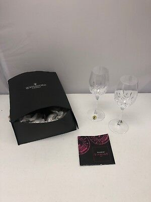 Gorgeous Set Of 2 Waterford Crystal Lismore Essence White Wine Glasses Goblets